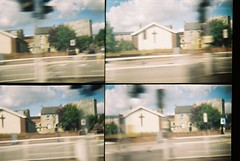 CNV00001 (incurable_hippie) Tags: motion church movement lomo lomography toycamera actionsampler 4in1 takenfromabuswindow