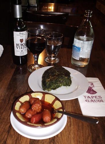 Tapas y vinos en Barcelona