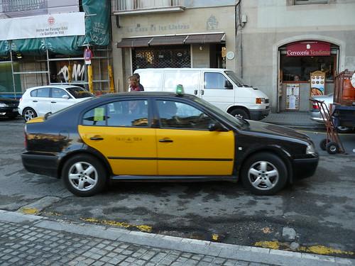 taxi barcelonais por zoubi.