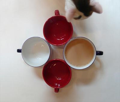 cuatro tazas