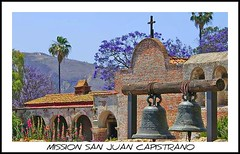MISSION SAN JUAN CAPISTRANO (Moments Captured In Time) Tags: california ca travel flowers plants history church beautiful bells digital writing garden photography photo cool nice pretty bell sweet edited postcard sony awesome religion border picture culture places socal card frame mission neat traveling lovely dslr missionsanjuancapistrano past digitalphoto sonyalpha sonyalphadslra100 jeanettehuston
