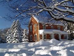 Christmas Card ? (Light Collector) Tags: trees house snow ontario canada farmhouse country historic snowfall stayner blueribbonwinner