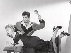 Shelley Winters and Farley Granger