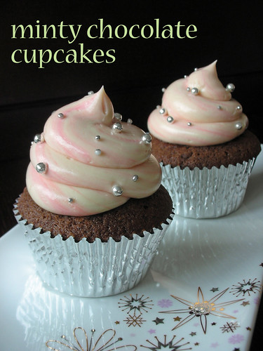 minty chocolate cupcakes