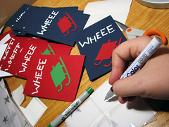 finishing up christmas cards (day 350)