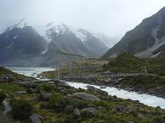 hooker valley bridge1 (zeaphod) Tags: newzealand mountcook