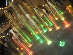 water wonderland (_melika_) Tags: christmas water lights christmastree hollywood waterfountain hollywoodandhighland