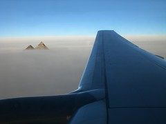 See you soon ;-) (horstgeorg) Tags: travel sky clouds airplane wings pyramid flight egypt cairo pyramids piramides giza