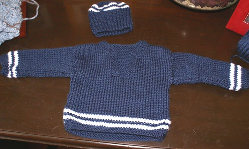 Baby Boy Knit pullover and hat