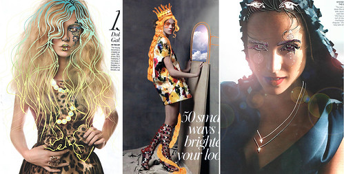 photos from Vogue with drawing overlay