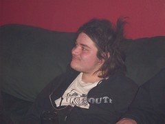 Dave Donkey (CassieL33) Tags: friends red party lounge drinking partying guys smoking newyears dudes punks siouxcity davedonkey