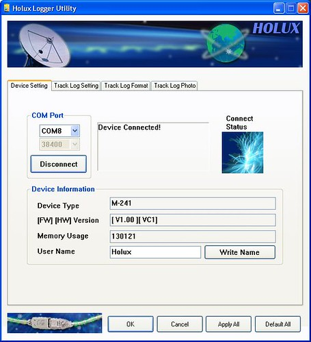 [Holux-Logger-DeviceSetting]