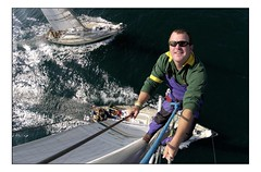 Up the Mast (Ross Drummond) Tags: ocean sea water ross 2000 sailing yacht glasgow sail times mast rigging clipper