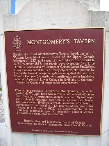 Montgomery's Tavern Plaque
