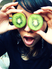 Jealousy (Little Thoughts) Tags: selfportrait silly green girl fruit glasses eyes hands boo specs kiwi jealousy greeneyedmonster superbmasterpiece diamondclassphotographer betterthangood lollookatmyfaceitsawful meteengoudeneneerlijkhart