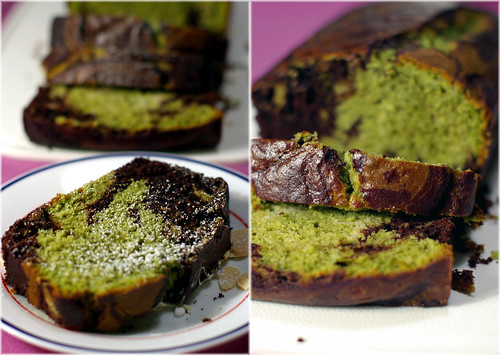 Chocolate matcha loaf
