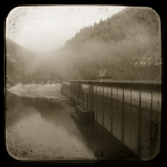 Detroit Dam #2 (baronCORONADO) Tags: usa art nature ecology sepia oregon america landscape photography us nikon scenery unitedstates forestry contemporary unitedstatesofamerica fineart blackburn photograph northamerica environment concept wilderness conceptual artcenter environmentalism ecosystem concepts artistry naturalresources ttv argus75 artmovement artmovements artstyles