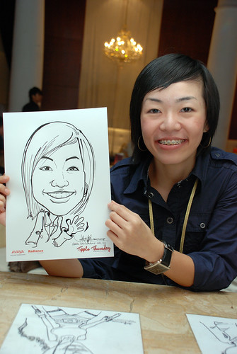 caricature live sketching Singtel Radiance Communications Avaya 16