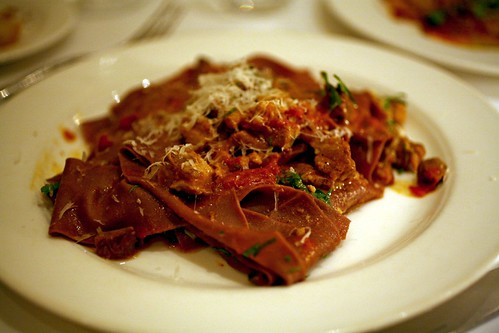 Chianti Stained Pappardelle with Wild Boar Ragu