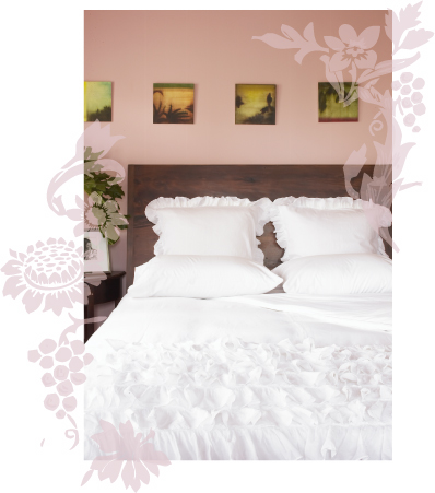 India Rose white devils bed set