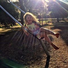 Swinging in a sunbeam. Franklin. Tasmania