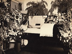 Mother (~ Lone Wadi ~) Tags: coffin casket corpse dead death funeral wake flowers floral funeralhome unknown retro 1940s