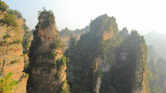 The Erecting Stones Chinese Tour (Eye of Brice Retailleau) Tags: outdoor panorama nature landscape mountains china zhangjiajie green sunny sky trees forest avatar scenic extérieur paysage colline arbre plante cliff