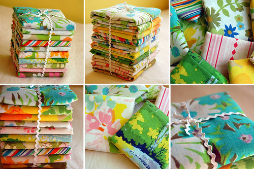 Vintage Sheet Fat Quarters at Home Ec!