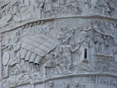 Trajans Column Detail Depicting Testudo Format...