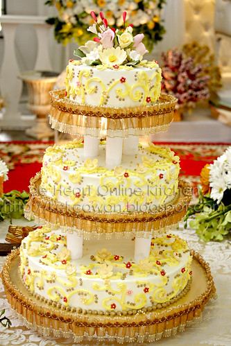 Wedding Cakes for Leena, Bandar Bukit Puchong - 14 Mac 2010