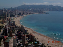 Benidorm (magda196) Tags: sea espaa beach buildings landscape mar edificios sand view playa paisaje arena alicante vista magda benidorm magda196