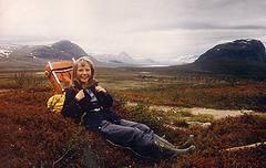 Med Olga i Lapland 1985