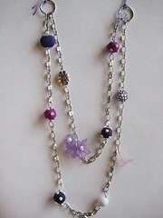 B116 (Ideias com Cores) Tags: flores necklace beads bijuteria fimo colar fio contas corrente lils algodo sintticas prateada ideiascomcores bokwus