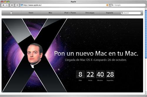 Web de Apple en español con foto de José Apeles