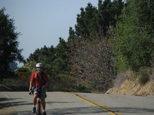 Mike at the peak on Redwood