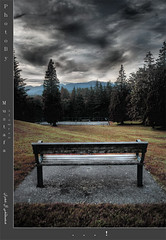 . . . !! (Mustafa  A) Tags: sunset vancouver landscape chair burnaby hdr