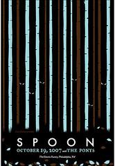 Spoon (Philadelphia) poster (strawberryluna) Tags: trees leaves forest eyes spoon creepy spooky posters gigposters ponys screenprints strawberryluna