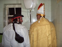 Shaking hands with the bishop (Bonfire, 2006)