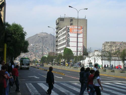 La avenida Abancay el sabado 10 de noviembre.