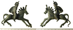 Cambridgeshire Roman horse and rider figurine - PAS image