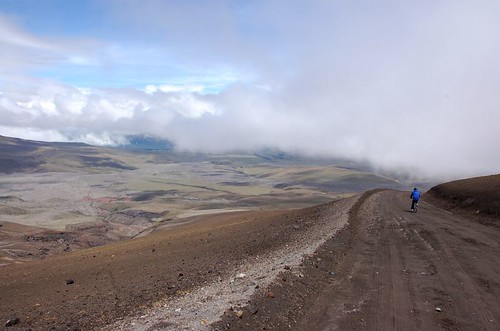Mountain biking down Cotopaxi Volcano