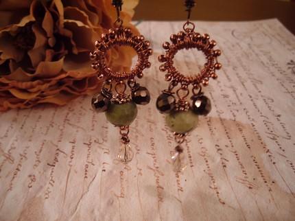 Mint chocolate - earrings