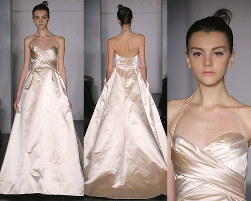 A Sensual and Slimmer Bridal with Silver Wedding Gown Knit with Silk