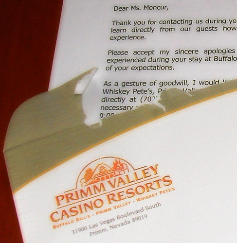 Apology letter from Primm Valley by LauraMoncur from Flickr