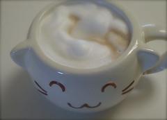 Kawaii Neko Desu (bunbunlife) Tags: japan kawaii neko cappuccino daiso
