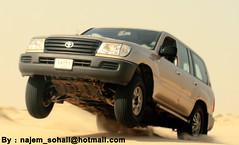...     (!  ) Tags: fly jump toyota landcruiser doha qatar sohail   suhail   sealine selen      najem  quatar      udaid