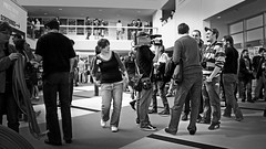 Dinamiche del Foyer (Far East Film Festival 10 - 2008) (pierofix) Tags: camera people bw italy white black film festival movie teatro italia dof dynamic theatre culture atmosphere bn east persone jeans surprise inside interview ideas 169 fareast foyer bianco atmosfera nero irma cultura dentro idee interno sorpresa friuli udine telecamera dinamismo stupore friuliveneziagiulia feff intervista intercultura giovannidaudine fareast10 fareast2008 feff10