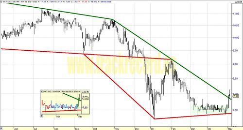 Natra, NAT.mc, Mercado Continuo (análisis 6 mayo 2008)