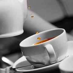 Drops of tea