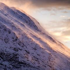 Spindrift (Christopher Swan) Tags: landscape sunset highlands mountains hills wwwchristopherswanphotographycom fujifilm light fujifilmlandscape scotland christopherswan glencoe xt1 sky snow spindrift photography clouds